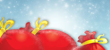 Mikołaj jest torba prezenty Zdjęcia Stock