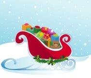 Mikołaj jest sanie Zdjęcia Royalty Free