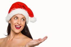 Mikołaj nosi kapelusz kobiety Zdjęcie Stock