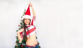 Mikołaj nosi kapelusz kobiety Obraz Stock