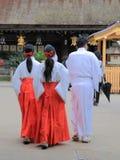 Miko, Japońska świątyni dziewczyna Zdjęcia Stock