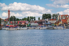 Mikolajki Resort in region Mazury, Poland royalty free stock photo