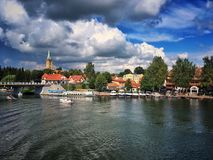 Mikolajki town Royalty Free Stock Photos