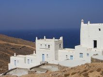 Mikonos. Typical view of Mykonos, a famous greek island royalty free stock image