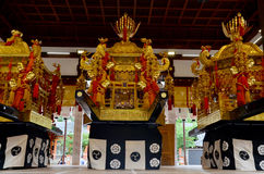 The mikoshi (divine palanquin) at Yasaka shrine Stock Photos
