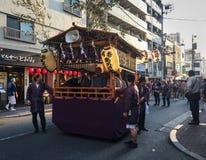 Mikoshi Matsuri Festival in Tokyo, Japan. Tokyo, Japan - May 20, 2017. Procession of Mikoshi Matsuri Festival in Tokyo, Japan. A mikoshi is a divine palanquin Stock Images