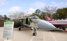 Mikoyan-Gurevich MiG-23 - плоский деревянный молоток - боец ai переменная-геометрии Стоковые Фотографии RF