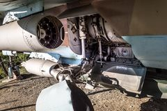 The Mikoyan-Gurevich MiG-23 detail. With landing gear Royalty Free Stock Photos