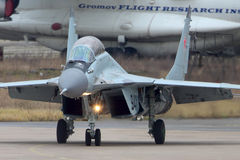 Mikoyan Gurevich MiG-29K 941 BLACK of russian navy jet fighter at Zhukovsky. Royalty Free Stock Photo