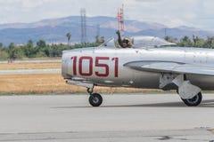 Mikoyan-Gurevich MiG-15 på skärm Arkivfoton