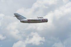 Mikoyan-Gurevich MiG-15 på skärm Royaltyfri Bild