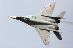 Mikoyan Gurevich MiG-29S RF-92242 of russian air force shown at 100 years anniversary of Russian Air Forces in Zhukovsky Royalty Free Stock Photography