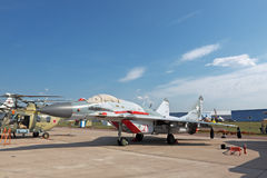 Mikoyan MiG-29, side view Stock Photos