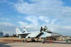 Mikoyan MiG-31 (nombre de la información de la OTAN: Raposero) Fotografía de archivo libre de regalías