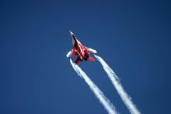 Mikoyan MiG-29 przy RAF powietrza tatuażem Obrazy Stock