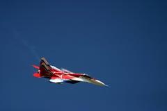 Mikoyan MiG-29 at RAF air tattoo Stock Image