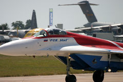 Mikoyan MiG-29 at RAF air tattoo Stock Photos