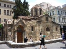 Mikri Metropoli, маленький собор Стоковое Фото