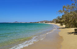 Mikri Vigla beach Naxos Greece stock photo