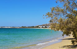 Mikri Vigla beach Naxos Greece stock image