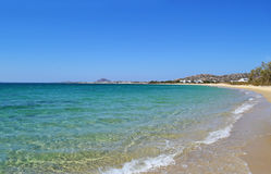 Mikri Vigla beach Naxos Greece stock images