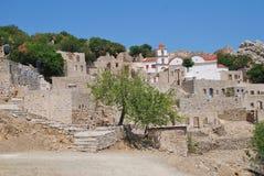 Mikro Chorio ruins, Tilos Stock Photography