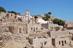 Mikro Chorio village, Tilos Royalty Free Stock Photo