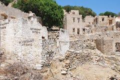 Mikro Chorio village, Tilos Royalty Free Stock Photo