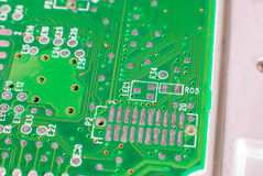 Mikro elektronika główna deska fotografia stock