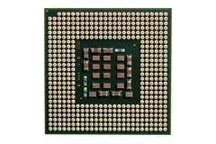 Mikro elementy komputerowa środkowego procesoru jednostka, jednostka centralna kontaktu szpilki Zdjęcie Royalty Free