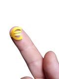 Mikro euro znak Zdjęcia Royalty Free