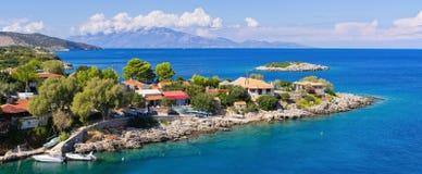 Mikro Nisi village on Zakynthos island, Greece Stock Photos