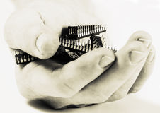 mikro - stary chip Fotografia Stock
