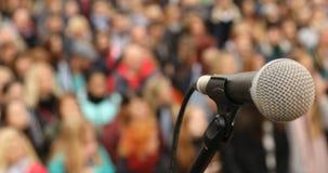 Mikro telefon na scenie zdjęcie wideo