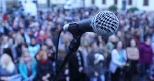 Mikro telefon na scenie zbiory wideo