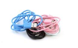 Mikro USB dane synchronizaci Ładuje kabel Obrazy Royalty Free