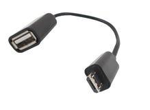 Mikro usb kabel Zdjęcie Stock