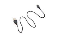 Mikro usb kabel odizolowywający na białym tle Fotografia Royalty Free