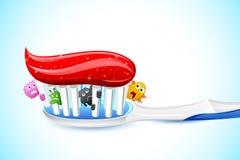 Mikroben in der Zahnbürste Lizenzfreie Stockfotografie