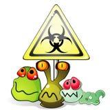 Mikroben und biohazard Zeichen vektor abbildung