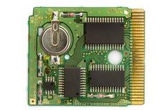 Mikrochip über Weiß Stockbilder