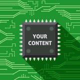 Mikrochip Ihr zufriedener flacher Hintergrund Lizenzfreies Stockbild