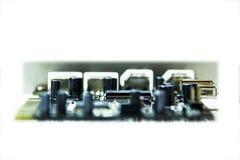 Mikrochipers och transistorer Royaltyfria Foton