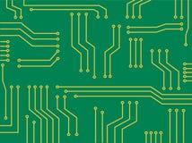 Mikrochipkarikatur-Vektorhintergrund Lizenzfreie Stockbilder