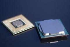 Mikrochips för centralenhetCPU-processorer Royaltyfri Bild