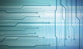 Mikrochips för Digital begreppsmässig bildströmkrets på blå bakgrund Arkivbild