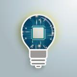 Mikrochips för Digital idékula royaltyfri illustrationer