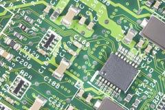 Mikrochips und Stromkreise Stockfoto