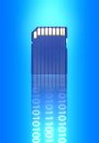 Mikrocodierte Karte für Kamera Stockfotografie