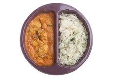 Mikrofali Indiański Curry'ego Posiłek Fotografia Stock